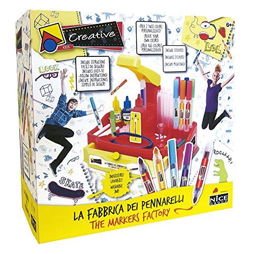 Nice S.R.L- Creative Fabbrica Pennarelli TV 47000, Multicolore, 898009