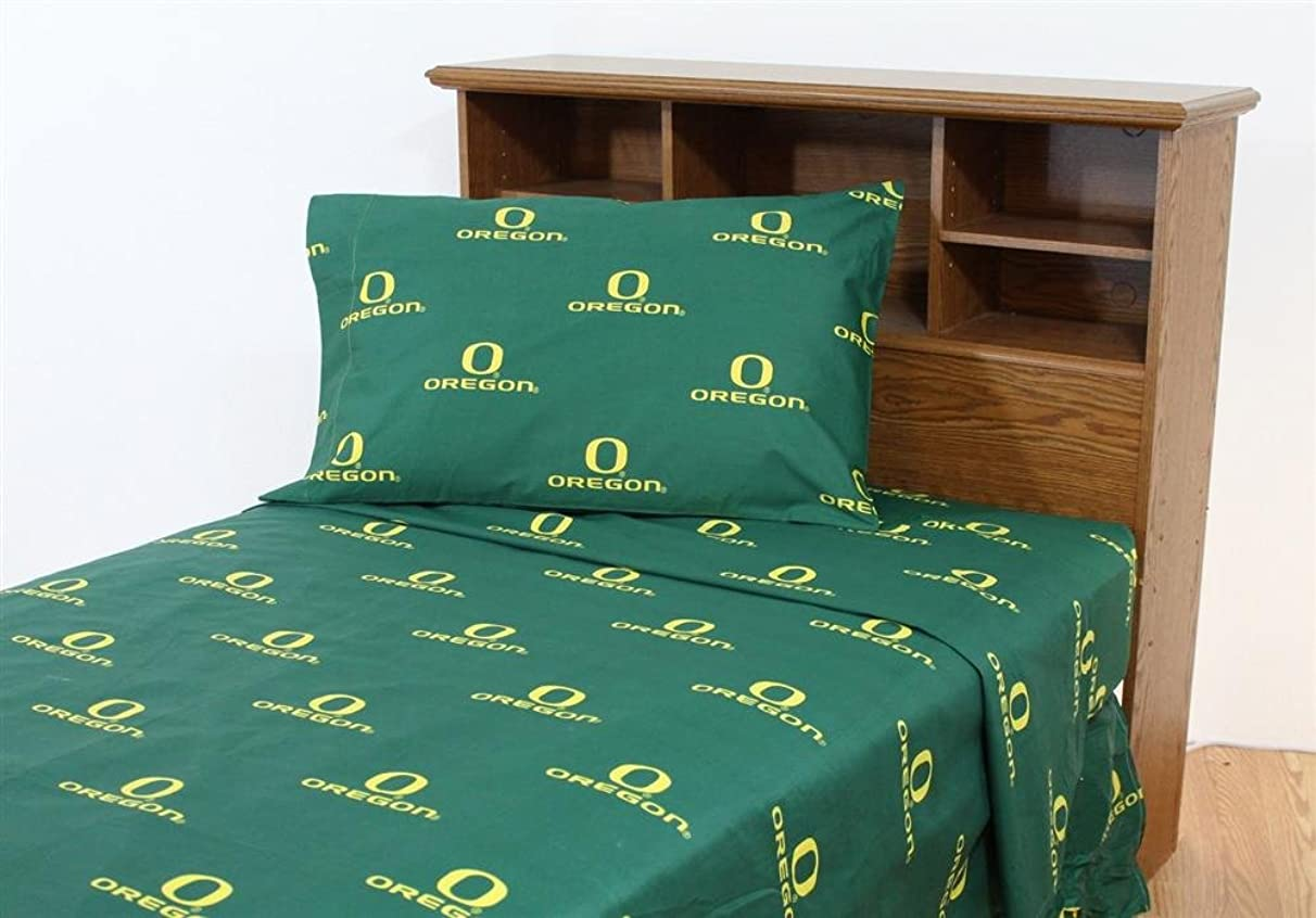 College Covers Oregon Ducks Printed Sheet Set - Solid