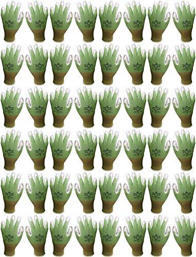 Atlas 370 Nitrile Palm Seamless Knit Gardening Gloves Green Small, 24-Pair
