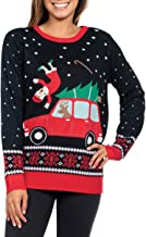 Tipsy Elves Women's Funny Grandma Got Run Over Xmas Sweater - Funny Ugly Christmas Sweater