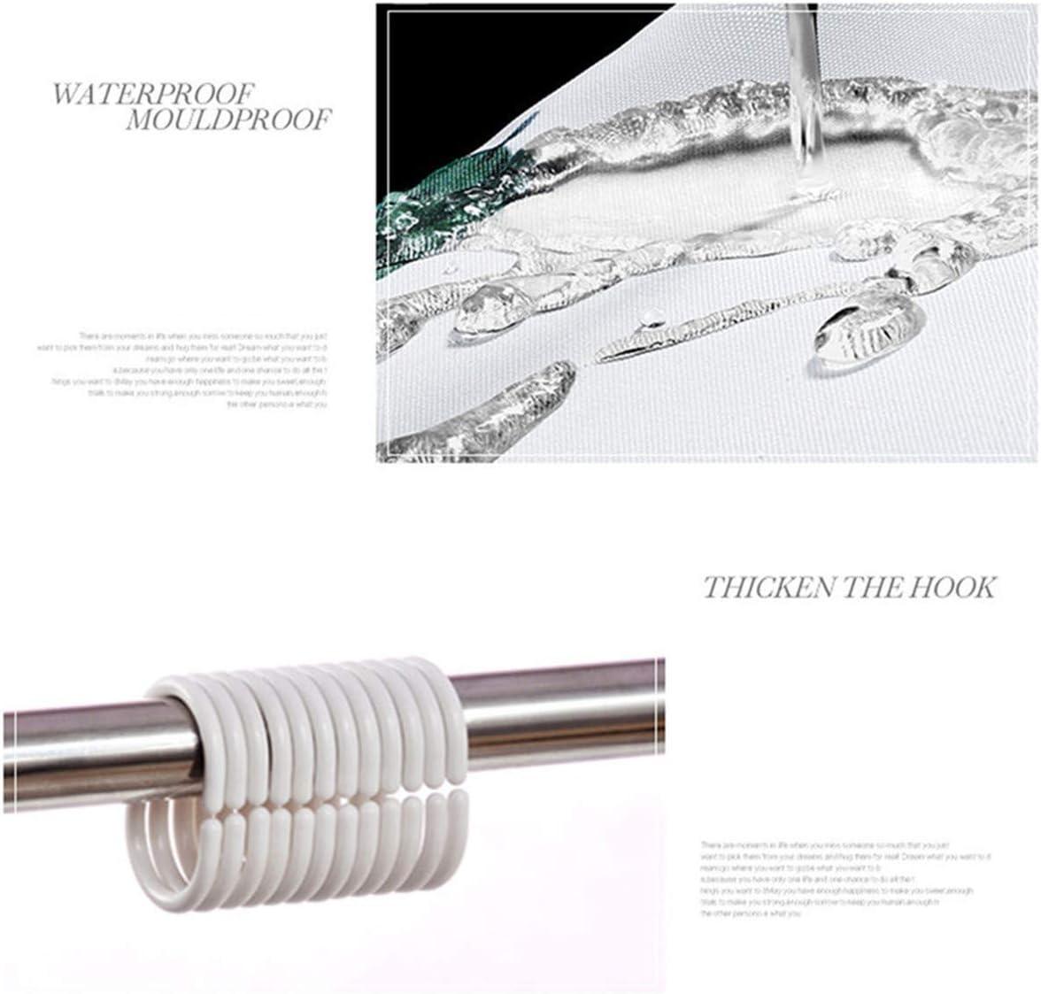 Tenda da Doccia in Tessuto Morbuy 3D Bagno Poliestere Resistente Tessuto Lavabile Impermeabile Antimuffa Tenda della Vasca da Bagno con 12 Ganci Blu sfumato,90x180cm