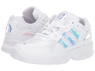 adidas Originals Kids Yung-96 (Little Kid) (White/Metallic) Kid