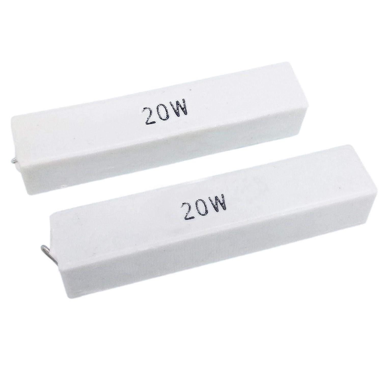 2pcs Max 87% OFF 15 ohm 15RΩJ 20 watt Resistor SALENEW very popular! Axial Cement Ceramic Power