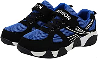 Hopscotch Boys Mesh and PU Text Print Athletic Shoes in Navy Color