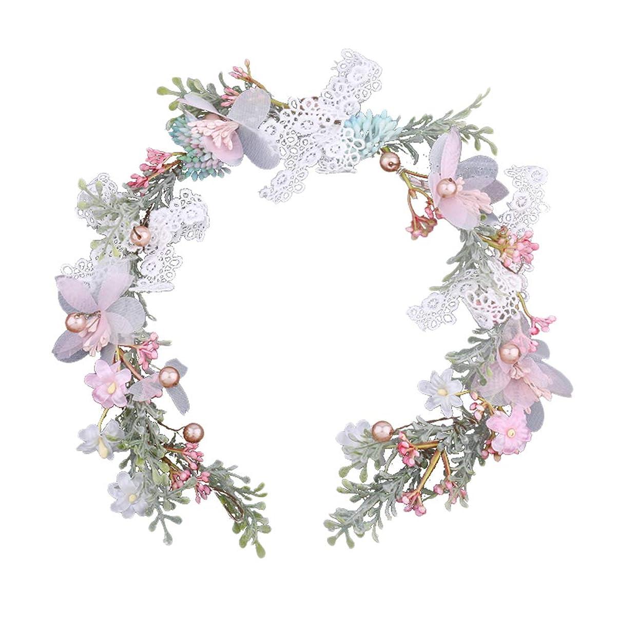 解任不純散歩Vosarea 花の髪の花輪ヘッドバンドのブライダルヘッドピースの女性の花嫁のためのヘッドアクセサリーの写真の小道具