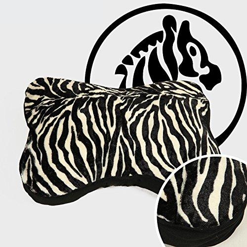 Dogshore Coussin pour chiens d'intérieur doux et doux en zébré, de haute qualité, 68 x 50 x 8 cm.