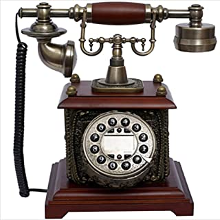 Classic Retro Phone/Antique Phone, Resin + Solid Wood, Traditional Ringtones And Push-Button Dialing Retro Landline