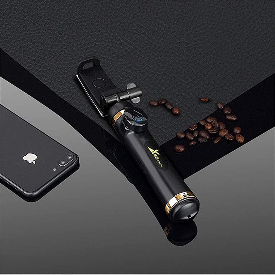 CHUANG TIAN Selfie Stick Tripod with Detachable Bluetooth Remote 3 in 1 Extendable Monopod Mini Pocket Wireless Selfie Stick 180° Rotation for iPhone Galaxy Huawei, More,Black
