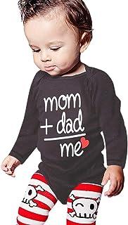 Tyoby Baby Jungen Liebevolle Eltern Strampler Bedruckter Sommer Kletterkleidung