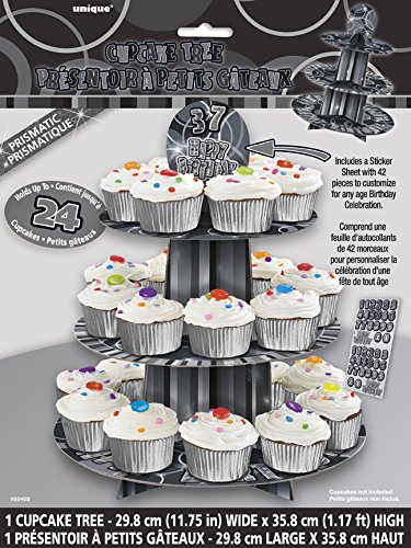 Unique Party 55403 - Customisable Glitz Black Cupcake Stand