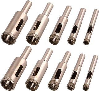 Silverline 217584 3pc TCT Tile /& Glass Drill Bit Set 5 6 /& 8mm Ceramic Mirror