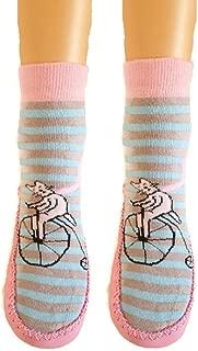 Marilyn Girls Non Skid Slipper Socks Leather Sole Moccasin