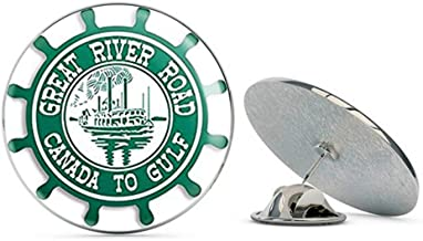NYC Jewelers Great River Road Canada to Gulf Shaped (Mississippi Boat) Metal 0.75