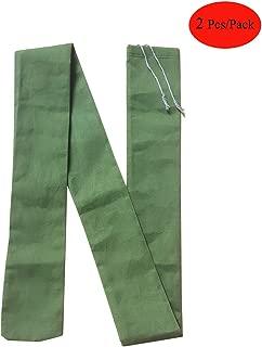 2 Pcs Long Canvas Sandbags Thickened Reusable Bags - Barrier for Rain Water Control Flood Hurricane - Doors Windows (7 Feet)