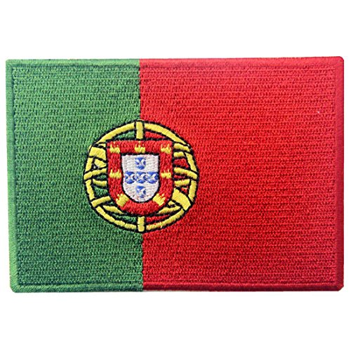 Portugal Flagge Bestickter Portugiesisch Aufnäher zum Aufbügeln/Annähen
