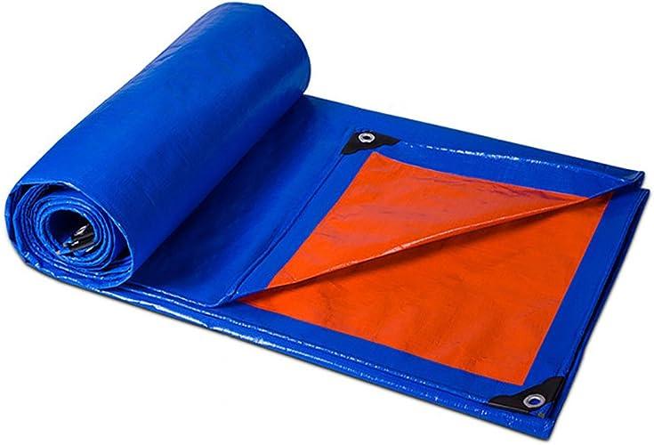 DLDL La bache de Prougeection antidérapante Couvre la bache imperméable imperméable de Tarpauline extérieure - Bleu, 180 G M (Taille   10x12m)