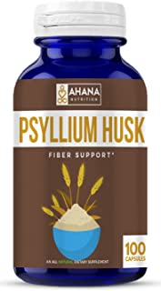 Psyllium Husk Capsules - Daily Fiber Supplement, Helps Relieve Constipation & Aids Weight Loss (Non-GMO & Gluten Free)
