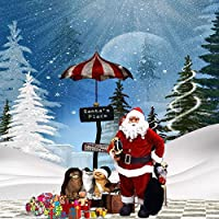 GladsBuy Santa 's Place 10' x 10'デジタル印刷写真バックドロップクリスマステーマ背景yhb-302