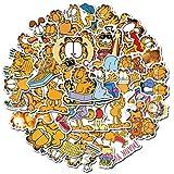FSVGC Etiqueta engomada de Garfield en monopatín matraz hidráulico portátil Maleta calcomanías Lindo Animal Dibujos Animados Gato Pegatina 50 unids/Set