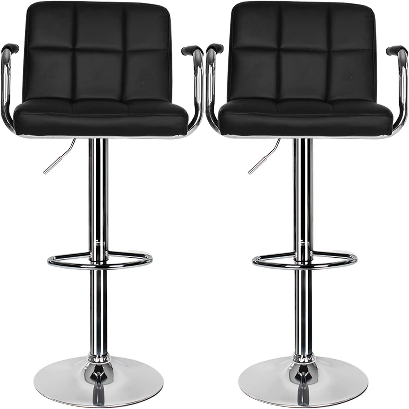 Bar Stools Set of 9, Breakfast Bar Stool with Armrest and Back Swivel Gas  Lift Leather Kitchen Bar Stool for Breakfast Bar/Counter/Kitchen Home ...