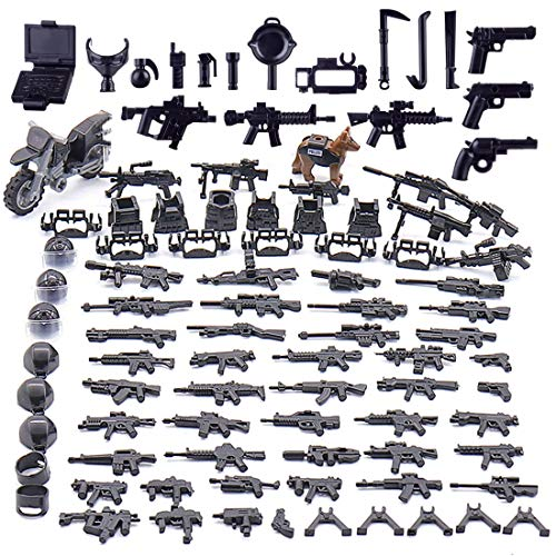 PARIO Custom Weapons Set for SWAT Team Minifigures, Compatible With LEGO