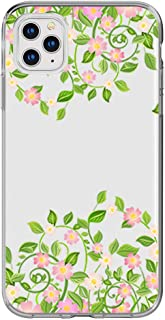 iPhone11 Pro Silicone Flower Case - Soft Clear Flexible Rubber Flowers Case Girls Floral Cover Anti-Shock for iPhone11 Pro-15