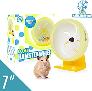 """Hamster Toy 7"""" Pet Noiseless Spinners Comfort Exercise Wheel Large and Easy Attach to Wire Cage for Small Pet <3.5 Oz Sugar Glider Hamster Hedgehog Gerbil - Premium PP Material"""