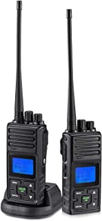 SAMCOM FPCN30A 20 Channel 2 Way Radios 5 Miles Long Range GMRS Walkie Talkie with Group Function, Earpiece&Belt Clip Included, Rechargable Interphone for Outdoor Camping Hiking (2 Packs)