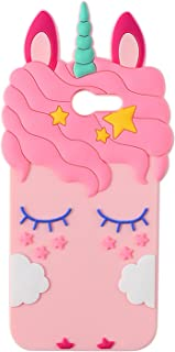 Joyleop Pink Unicorn Case for Samsung Galaxy J3 Emerge J3 2017 Cute 3D Cartoon Animal Cover,Kids Girls Soft Silicone Rubber Kawaii Character Fashion Unique Shell Cases for Samsung J3 Prime Amp Prime 2