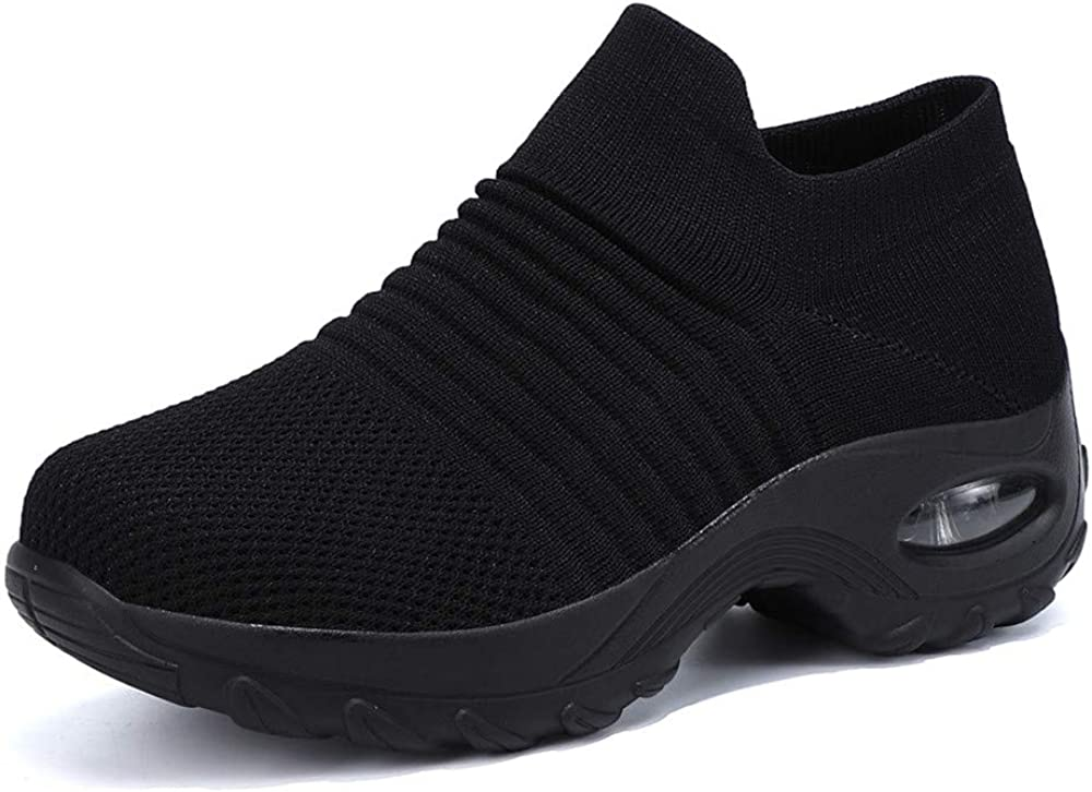 Women's Jazz Shoes Lace-up Dance Sneakers Split Sole Memory Foam Insole Air Cushion High Arch Athletic Walking Dance Shoes