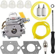 Kizut C1U-H60 Carburetor for 25cc 26cc 30cc Ryobi CS30 RY30963 RY30550 RY30530 RY30562 Homelite 308054013 308054012 308054004 308054008 String Trimmer Parts Adjustment Tool Primer Bulb Fuel Line Kit