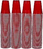 AmazonBasics - Partybecher aus Kunststoff, Einwegbecher, 470 ml, 240er-Pack, Rot