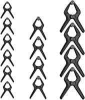 Amazon Basics 14-Piece Nylon Spring Clamp Set - 6 Pieces 3-3/8-Inch, 4 Pieces 4-1/2-Inch, 4 Pieces 6-1/2-Inch