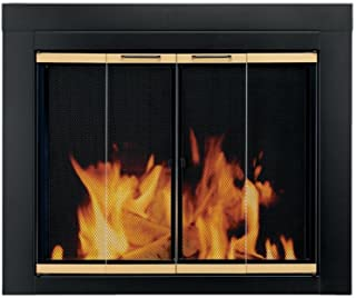 Pleasant Hearth AR-1021 Arrington Fireplace Glass Door, Black, Medium