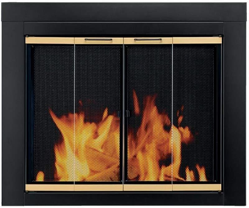 Pleasant Hearth AR 1021 Arrington Fireplace Glass Door Black Medium