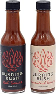 Burning Bush Hot and Essential Sauces balance heat and flavor with unique blends of chilies and ancient herbs from the Hol...