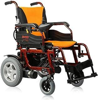 DSHUJC Sillas de Ruedas eléctricas, Silla de Ruedas eléctrica Plegable Cuidado portátil Scooter de Cuatro Ruedas Aleación de Aluminio Silla de Ruedas para Ancianos discapacitados Batería