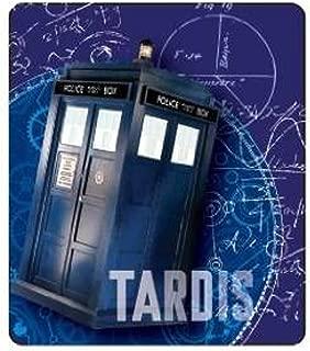 Doctor Who Gears Tardis Throw Blanket, 50x60, Blue