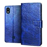 RIFFUE Case for LG K20 2019, Slim Flip Folio Leather Wallet