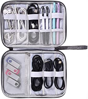 Waterproof Portable Cable Organizer Bag Shockproof Travel Kit Case USB Charger Power Bank Holder Digitals Kit Bag Pouch Ca...