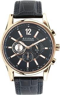 Men's Analog-Classique Blue dial, Blue Leather Strap Watch