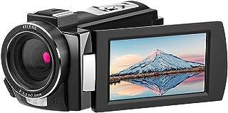 كاميرا فيديو رقمية واي فاي Andoer HDR-AE8 4K مسجل DV 30MP 16X بتقريب رقمي بالأشعة تحت الحمراء رؤية ليلية 3 بوصات IPS LCD مع بطاريتين قابلتين للشحن + ميكروفون خارجي + حذاء بارد