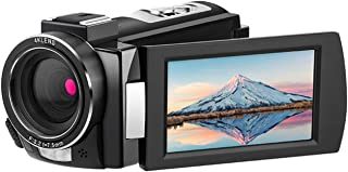 Andoer HDV-AE8 4K WiFi Digital Video Camera Camcorder DV Recorder 30MP 16X Digital Zoom IR Night Vision 3 Inch IPS LCD Touchscreen with 2pcs Rechargeable Batteries + External Microphone + Cold Shoe