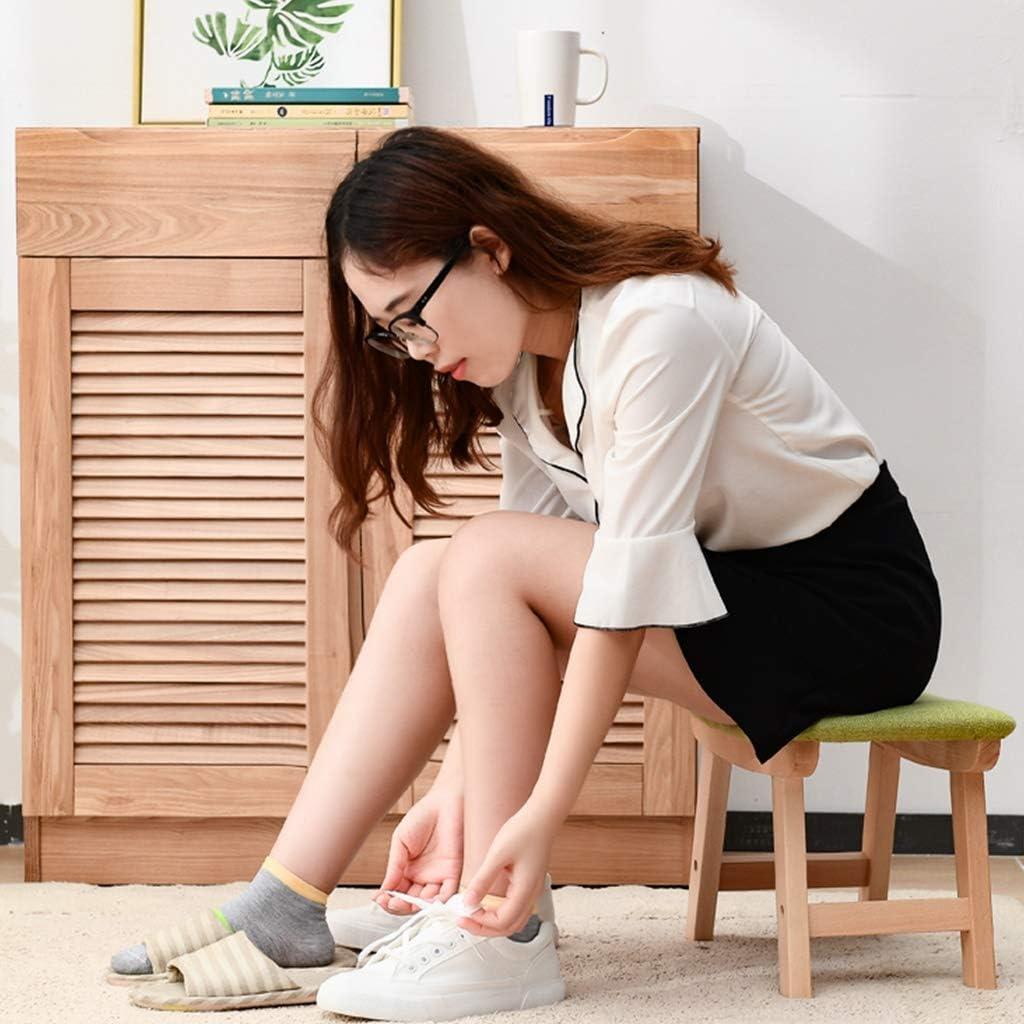 XiuHUa Repose-pieds en bois portable pour la maison à langer Tabouret créatif en tissu pour adultes et enfants (couleur : C) B