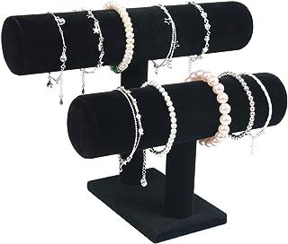 Ganghuo Présentoir à bijoux à 2 niveaux pour boucles d'oreilles, colliers, bracelets