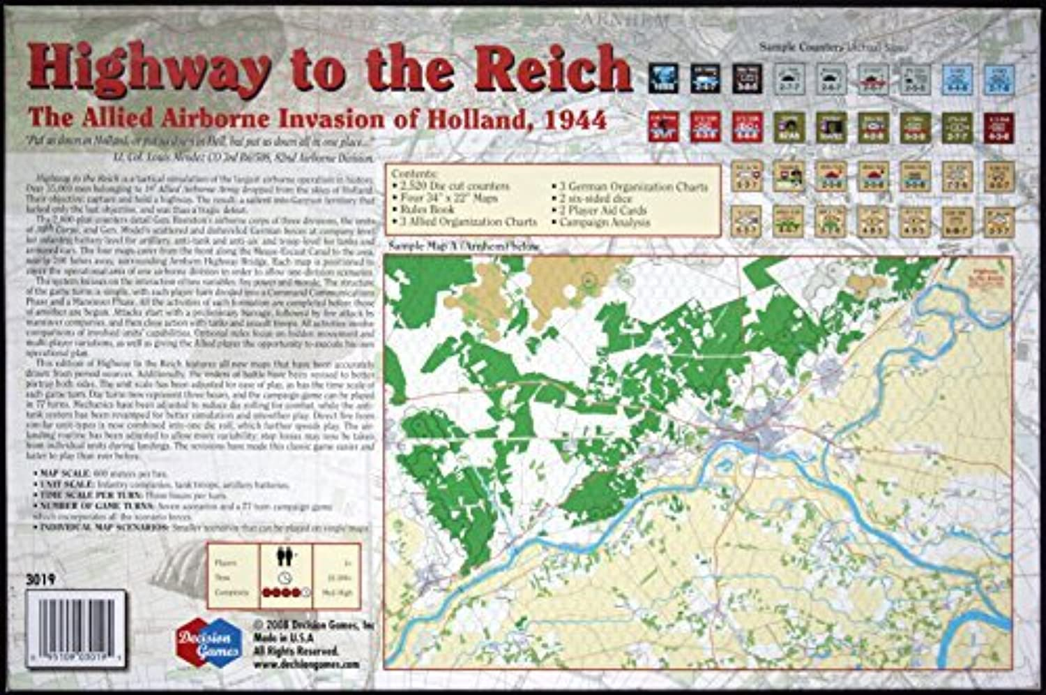 DG Desision Games Highway To The Reich Board Game