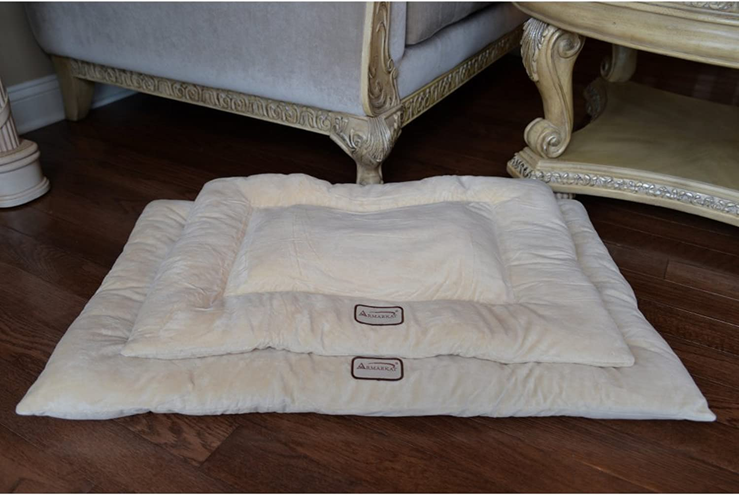 Armarkat Pet Bed Mat 27Inch by 19Inch by 2.5Inch M01Medium, Beige