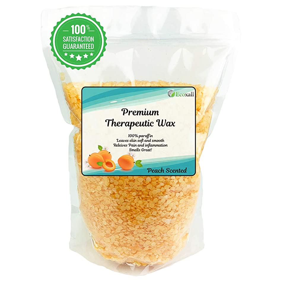 Ecoxall Therapeutic Wax 3lbs Relieve Arthritis Pain and Stiff Muscles - Hydrates and Protects - 3 lbs Peach
