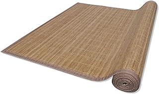 Alfombra Salon Bambu - Alfombrilla Madera Bambú con Una Base Antideslizante de PVC | Estera de bamb