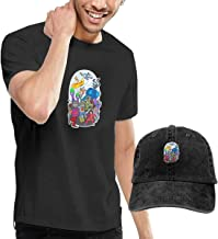 SOTTK Camisetas y Tops Hombre Polos y Camisas,t-Shirts, Tee's, The-Beatles Men's Classic T-Shirt with Washed Denim Baseball Hat Black